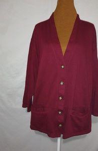 1411 Red Sweatshirt Jacket Sz XL